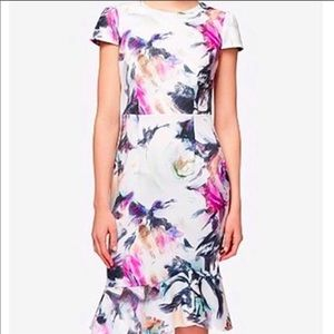 COPY - COPY - Betsey Johnson Floral Dress Ruffle …